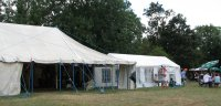 Zoo at Ufford: the beer and music marquee - clickto enlarge
